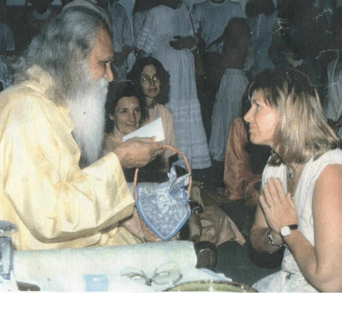 Sri gurudev and I